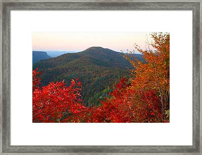 Framed Print featuring the photograph Linville Gorge by Kathryn Meyer
