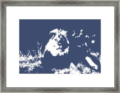 Lion 2 Framed Print by Joe Hamilton