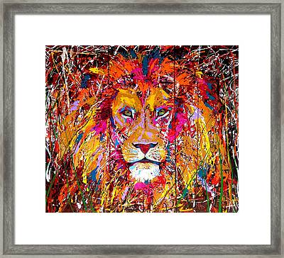 Lion 4 Framed Print