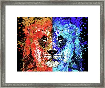 Lion Art - Majesty - Sharon Cummings Framed Print by Sharon Cummings