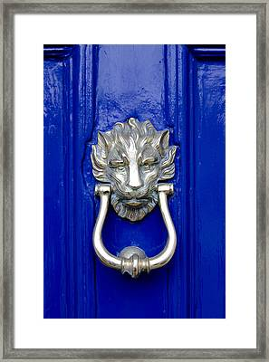 Lion Doorknocker Framed Print by Tony Grider