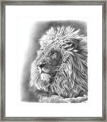Lion King Framed Print by Remrov