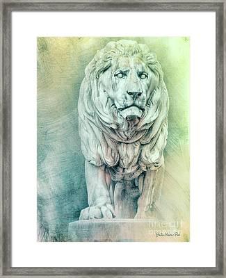 Lion For Eternity Framed Print