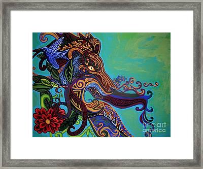 Lion Gargoyle Framed Print