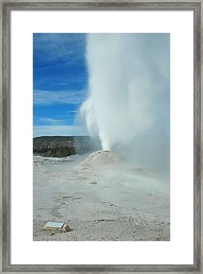 Lion Geyser Yellowstone Framed Print