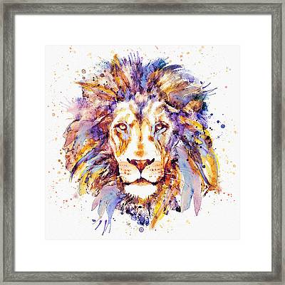 Lion Head Framed Print by Marian Voicu