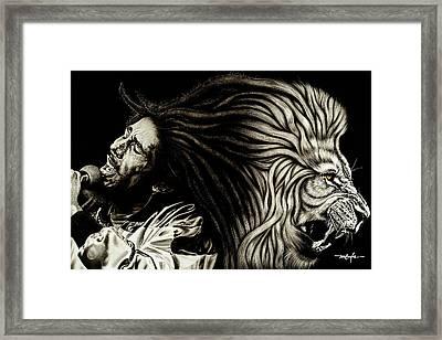 Lion Heart -bob Marley Framed Print