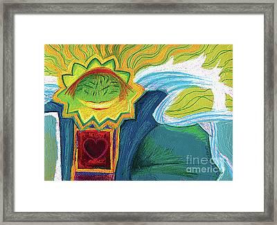Lion Hearted Framed Print