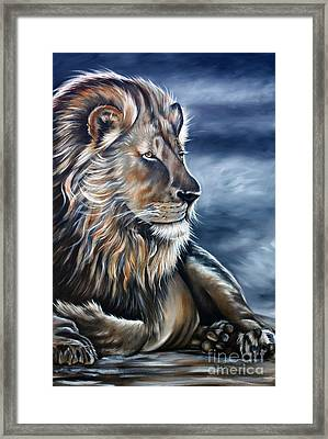 Lion Framed Print by Ilse Kleyn