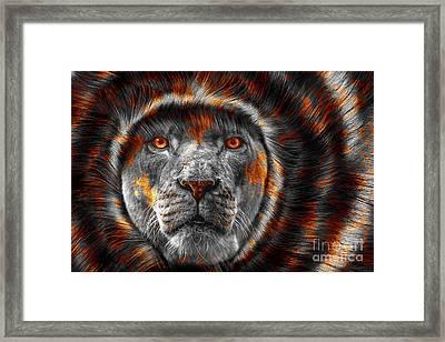 Lion Lady   -4 Framed Print by Prar Kulasekara