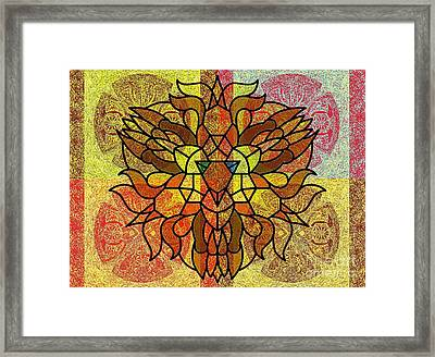 Lion Legacy Perfected Unity Framed Print by Trent Jackson