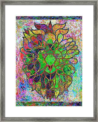 Lion Legacy Urban Crush Framed Print by Trent Jackson