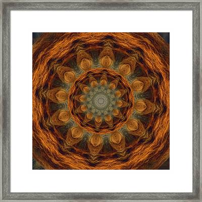 Framed Print featuring the painting Lion Mandala by Shelley Bain