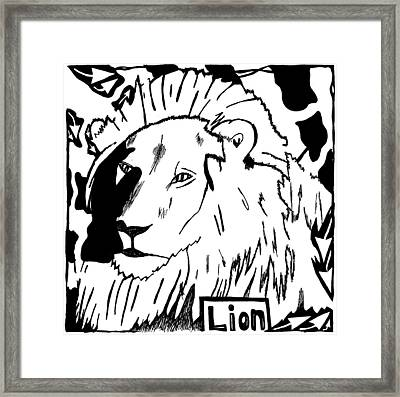 Lion Maze Framed Print by Yonatan Frimer Maze Artist