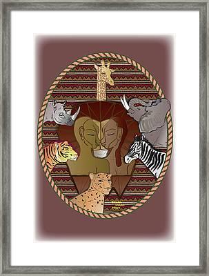 Lion Mutation Framed Print
