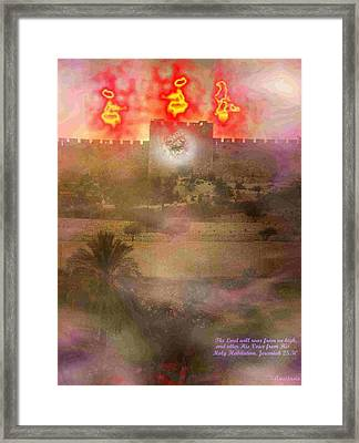 Framed Print featuring the photograph Lion Of Judah At The Gate He Is Coming by Anastasia Savage Ealy