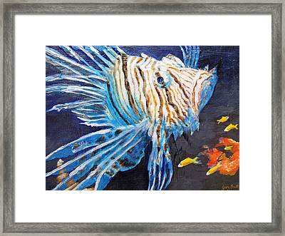 Lion Of The Sea 2 Framed Print