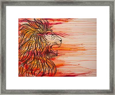 Lion Of The Tribe Of Judah Framed Print by Jill Wyckoff