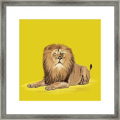 Lion Painting Framed Print