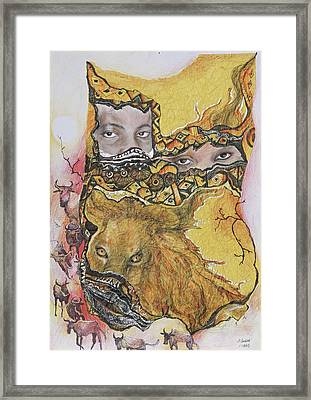 Lion Power Framed Print