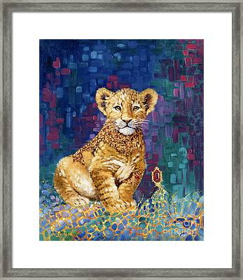 Lion Prince Framed Print by Silvia  Duran