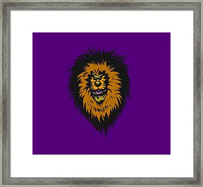 Lion Roar Purple Framed Print