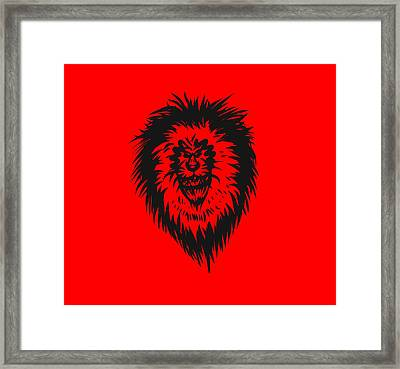 Lion Roar Framed Print