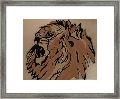 Lion Side Framed Print