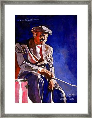 Lionel Hampton  Framed Print by David Lloyd Glover
