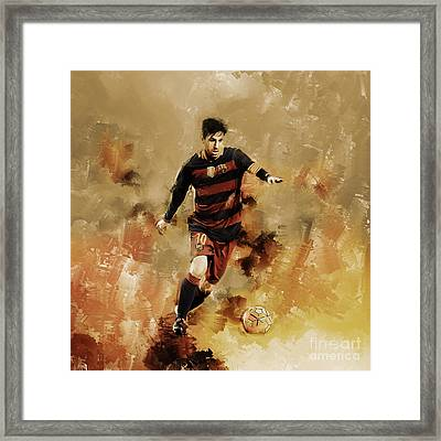 Lionel Messi 01 Framed Print by Gull G