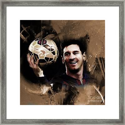 Lionel Messi 032a Framed Print