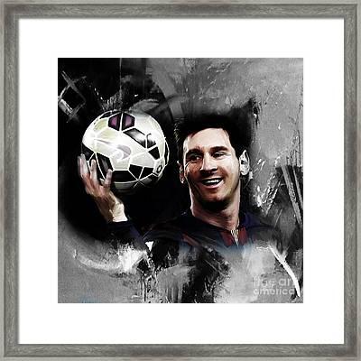 Lionel Messi 03c Framed Print