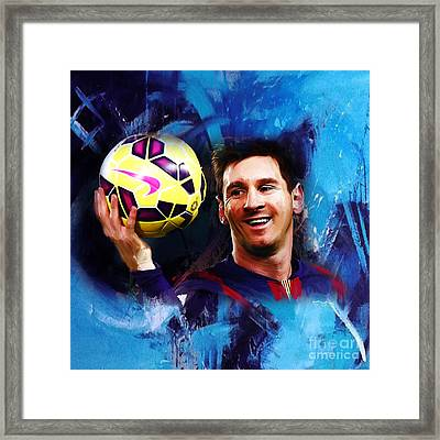 Lionel Messi 03d Framed Print by Gull G