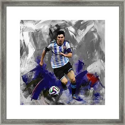 Lionel Messi 094a Framed Print