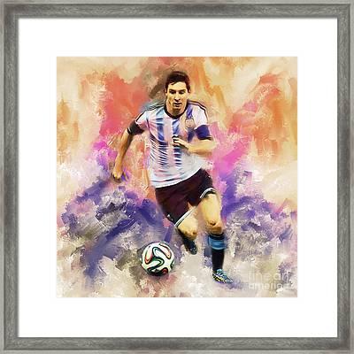 Lionel Messi 094c Framed Print