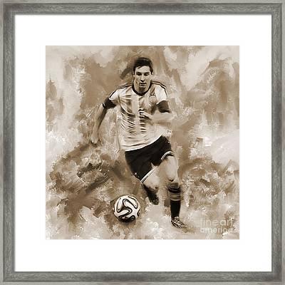 Lionel Messi 094f Framed Print