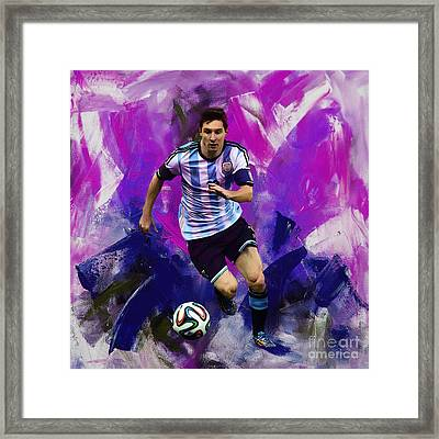 Lionel Messi 094g Framed Print by Gull G
