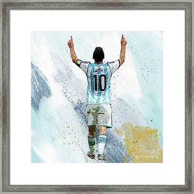 Lionel Messi 92ui Framed Print
