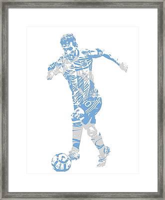 Lionel Messi F C Barcelona Argentina Pixel Art 4 Framed Print