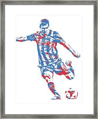 Lionel Messi F C Barcelona Argentina Pixel Art 6 Framed Print