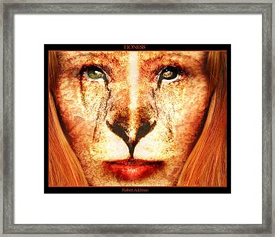 Lioness Framed Print by Robert  Adelman