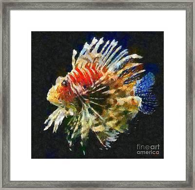 Lionfish Framed Print by Dragica  Micki Fortuna