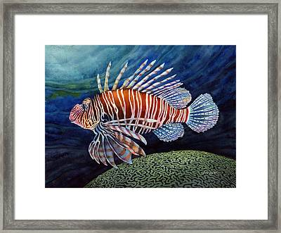 Lionfish Framed Print by Hailey E Herrera