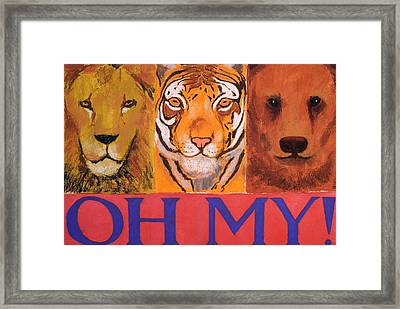 Lions And Tigers And Bears Framed Print by Mary McInnis