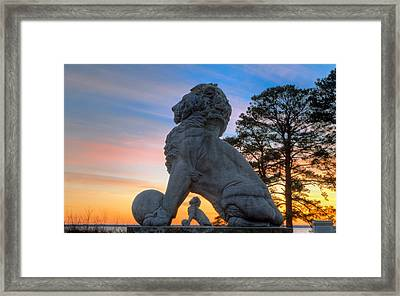Lions Bridge At Sunset Framed Print
