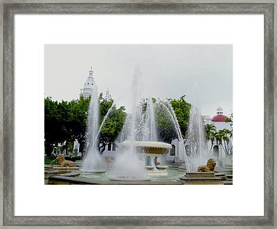 Lions Fountain, Ponce, Puerto Rico Framed Print