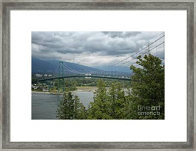 Lion's Gate Bridge, Vancouver Framed Print by Patricia Hofmeester