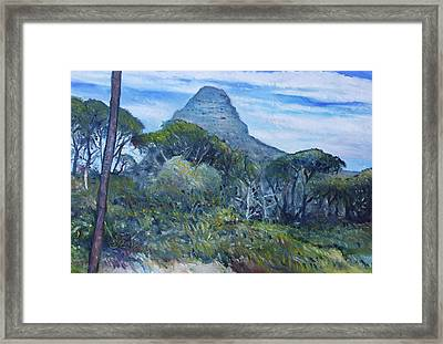Lions Head Cape Town South Africa 2016 Framed Print