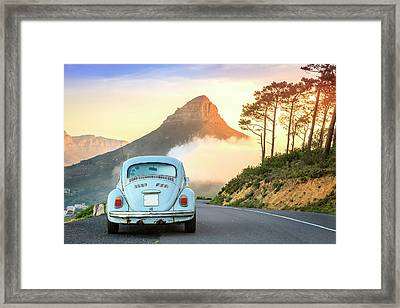 Lions Head Mountain Framed Print by Alexey Stiop