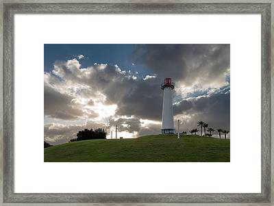 Lion's Lighthouse For Sight - 2 Framed Print
